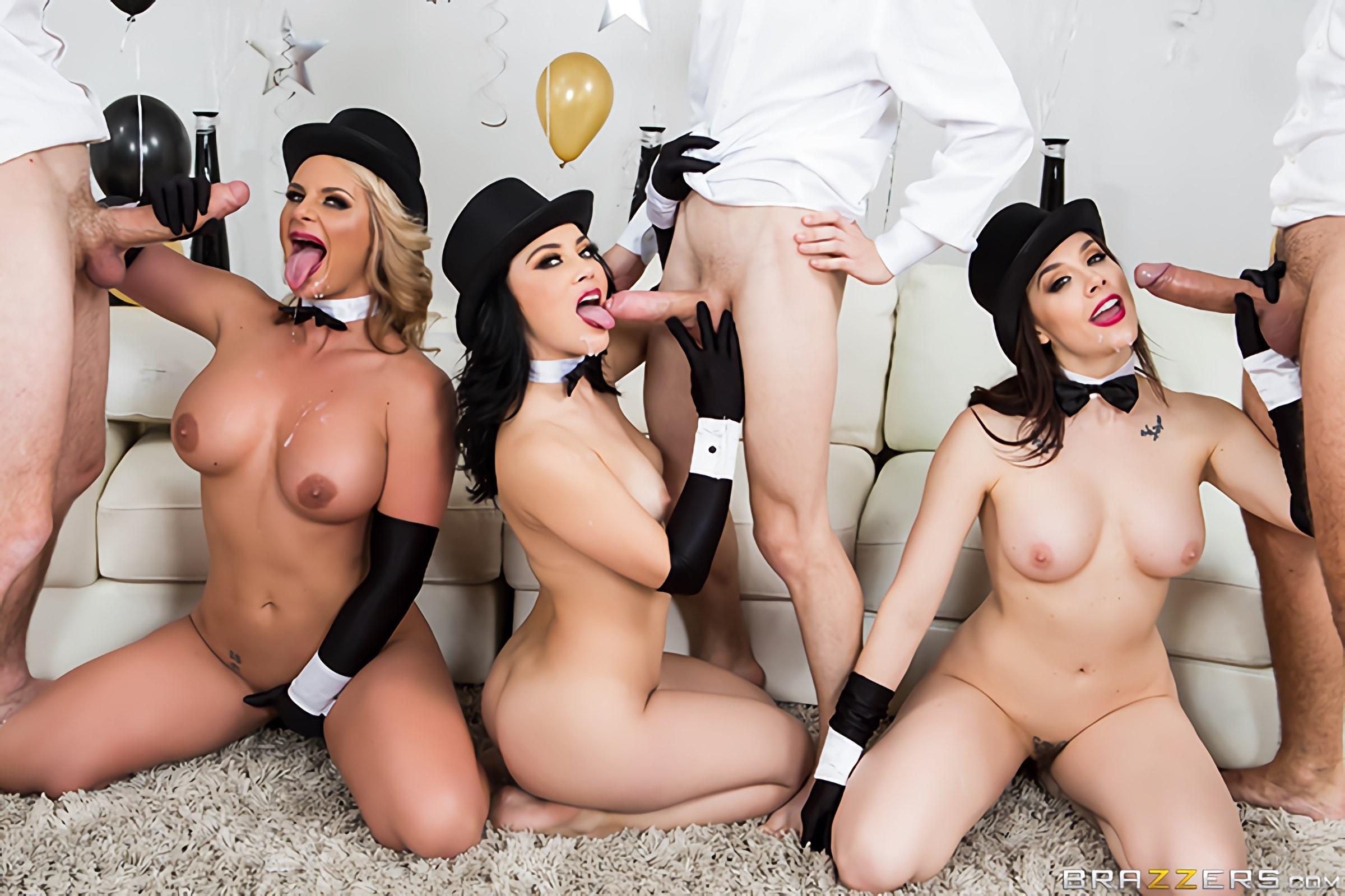 Порно вечеринки онлайн brazzers это