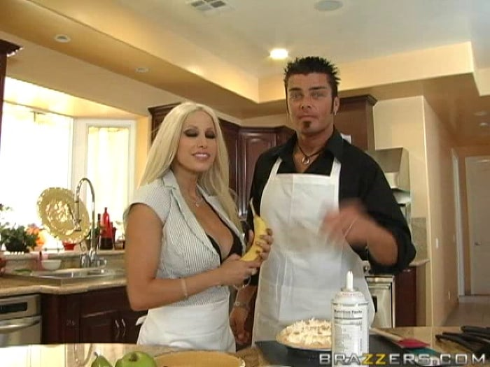 Gina Lynn in Cooking with Gina  and  Cheyne