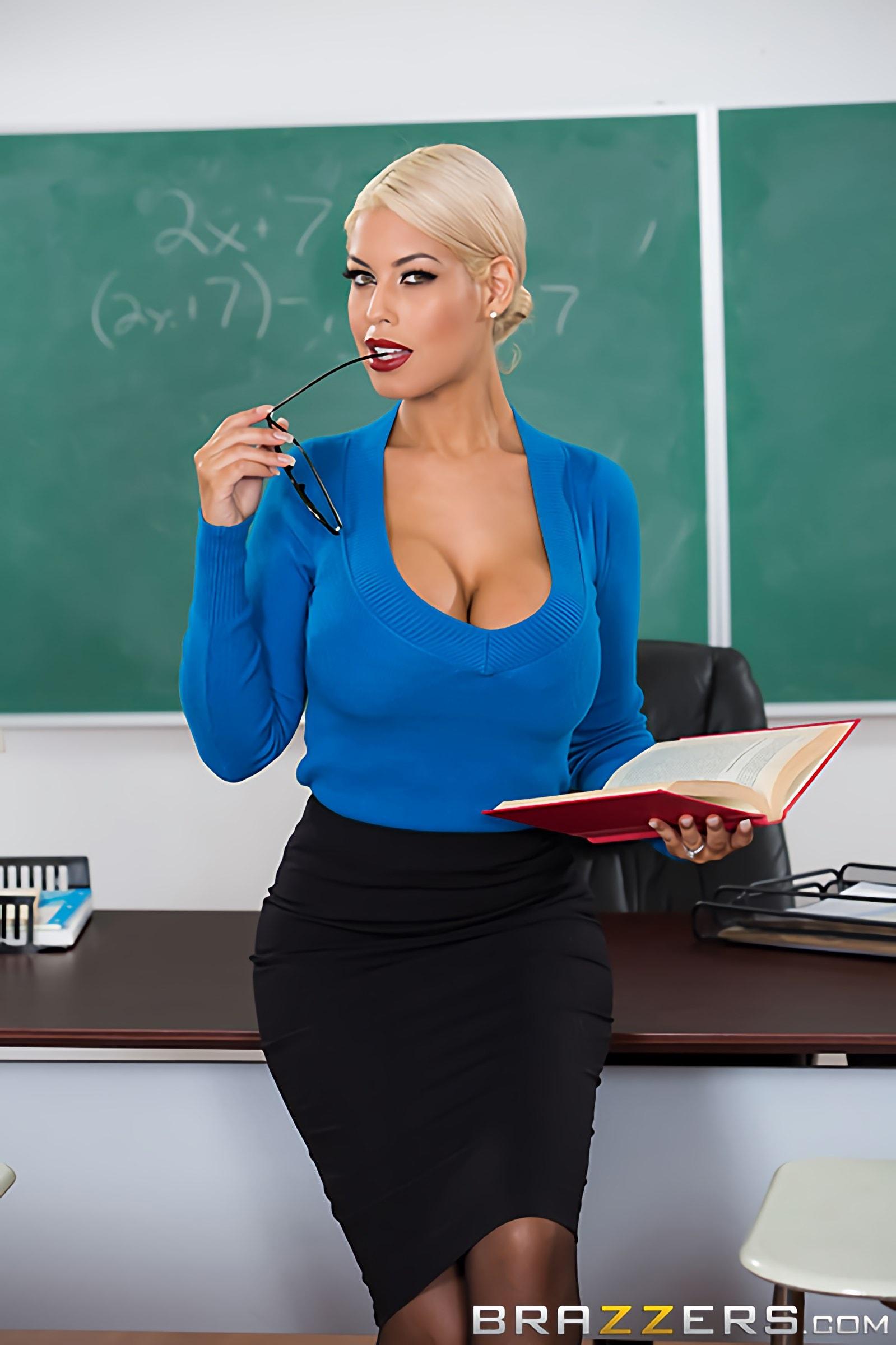 Bridgette alex teachers tits are distracting