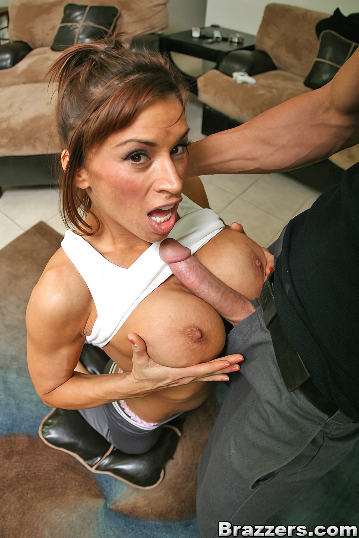 Flexible milf devon michaels gives blowjob and rides dick on the sofa porn photo online